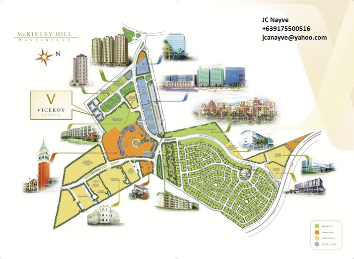 Viceroy Mckinley Hill township Development plan in Fort Bonifacio (viceroy, florence, venice grand canal mall, enderun)