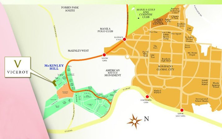 Megaworld Fort Bonifacio Site Map - Mckinley Hill township, Mckinley West township, Uptown Bonifacio BGC, Forbes Town Center BGC