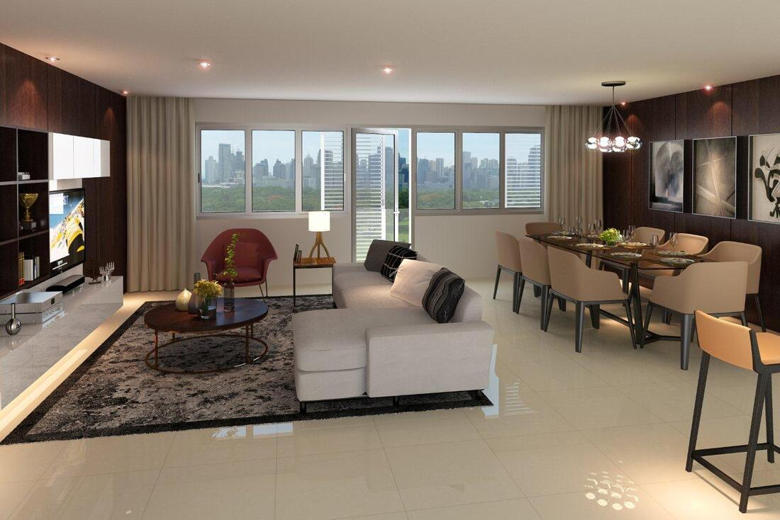 Park Mckinley West penthouse unit living room